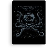 Octopus Diver Canvas Print