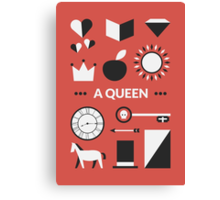 Once Upon A Time - A Queen Canvas Print