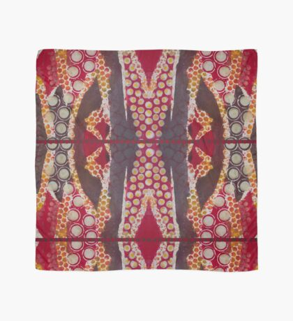Red Tribal Circles Scarf