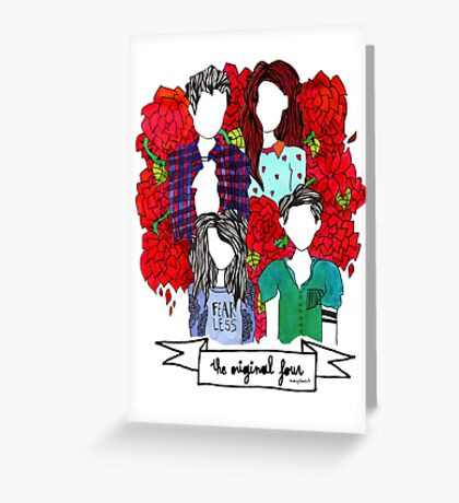 TEENWOLF ORIGINAL FOUR by AudreyTheArtiste for CFF Greeting Card