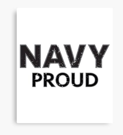 Navy Proud navy blue distressed Canvas Print