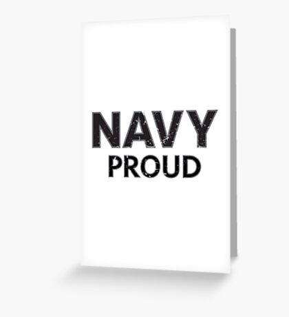 Navy Proud navy blue distressed Greeting Card
