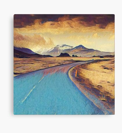 Abstract landscape, modern,elegant,contemporary art Canvas Print