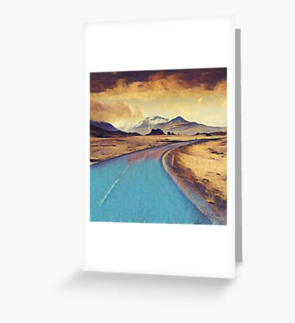 Abstract landscape, modern,elegant,contemporary art Greeting Card