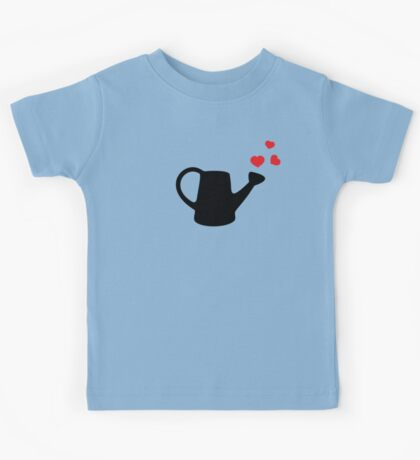 I love my Garden - Watering Can with Red Hearts Kids Tee