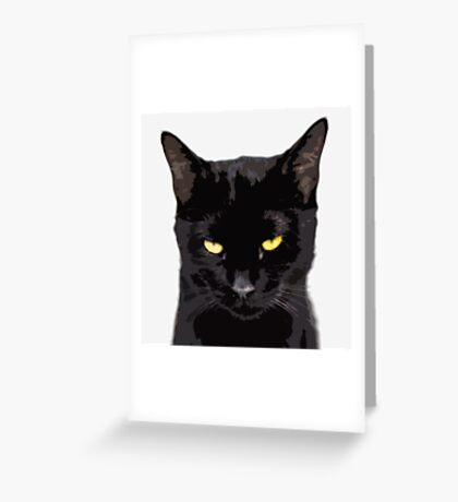 unamused cat disapproves  Greeting Card