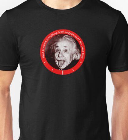 Albert Einstein - time qoute Unisex T-Shirt