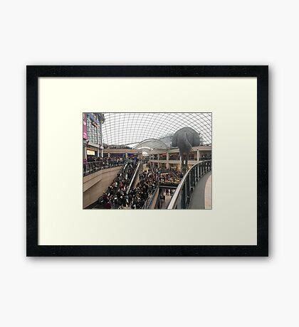 Saturday in Trinity Leeds Framed Print