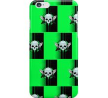Wing Skull - GREEN (Pattern 2) iPhone Case/Skin
