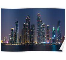 Night cityscape of Dubai Poster