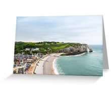 View to Etretat, France Greeting Card