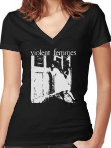 Violent Femmes band - Violent Femmes  Women's Fitted V-Neck T-Shirt