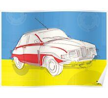 Saab 96 - Vintage Posters Poster
