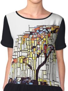 Weeping willow pushed into abstraction Chiffon Top