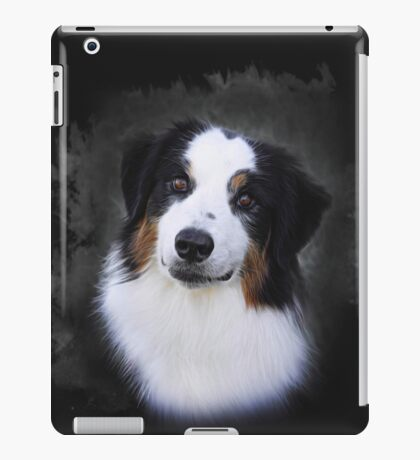 Bernese Mountain Dog Art Portrait iPad Case/Skin