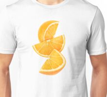 Three slices of orange Unisex T-Shirt