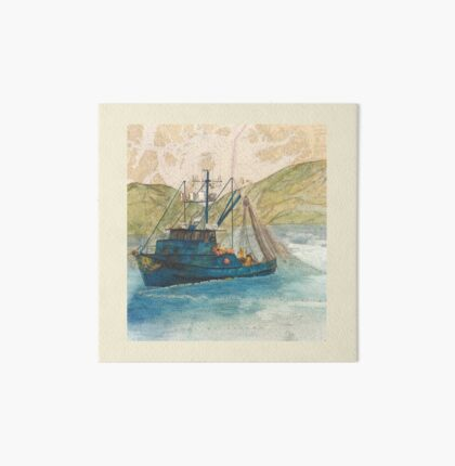 MALAGA AK Salmon Seine Boat Cathy Peek Nautical Chart Art Board