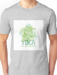 Girl in yoga pose. Doodle  Unisex T-Shirt