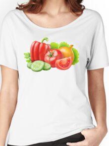 Mixed fresh vegetables Women's Relaxed Fit T-Shirt
