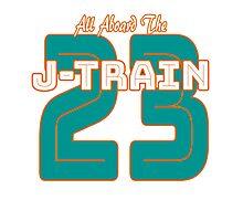 All Aboard the Ajayi J-Train Tshirt Photographic Print