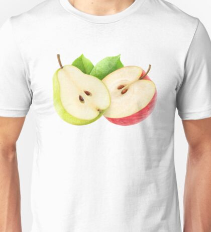 Halves of apple and pear Unisex T-Shirt