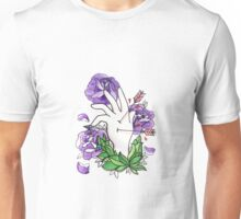 Hand and watercolour roses Unisex T-Shirt