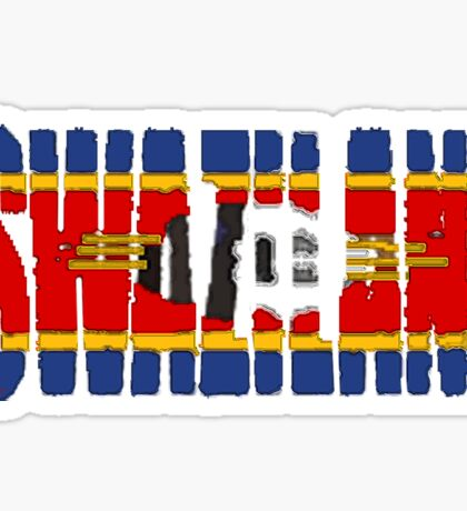 Swaziland Font with Flag Sticker