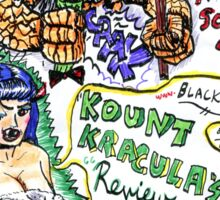 Kount Kracula's Review Showcase -TV Show Promo Poster #2 Sticker