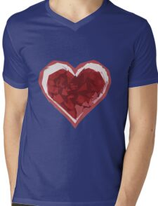 Valentine Shredded Mens V-Neck T-Shirt