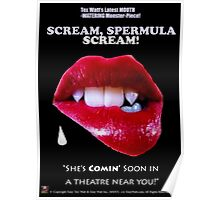 SCREAM, SPERMULA, SCREAM!- Sneak Peak Movie Poster Art Poster