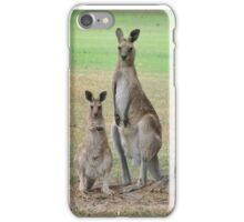 Kangaroos - Mum and Joey iPhone Case/Skin