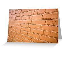 View angle on the red brick wall Greeting Card
