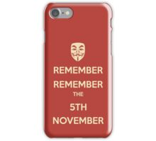 Guy Fawkes 5th November iPhone Case/Skin