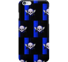 Wing Skull - BLUE (Pattern) iPhone Case/Skin