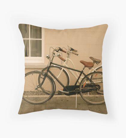 Bikes, Marter Castle, Ireland Throw Pillow