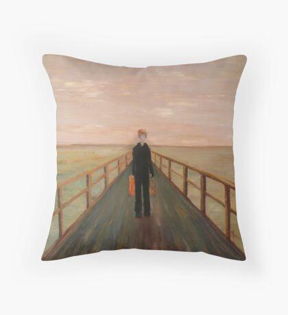 Arrival - Original Oil Painting Throw Pillow