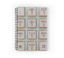 Vintage Telephone Buttons Spiral Notebook