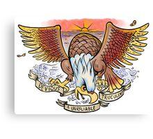 "Morrissey - ""Devious, Truculent, & Unreliable"" eagle tattoo design Canvas Print"