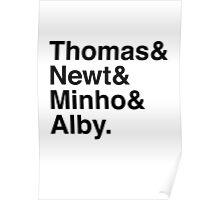 Thomas & Newt & Minho & Alby. Poster