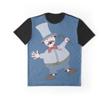 Round man with Tophat Graphic T-Shirt