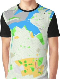 Sydney Inner West Map Graphic T-Shirt