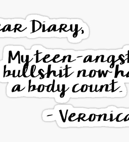 Heathers Dear Diary Movie Quote Sticker