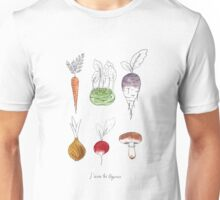 J'aime les légumes! I love vegetables! Unisex T-Shirt