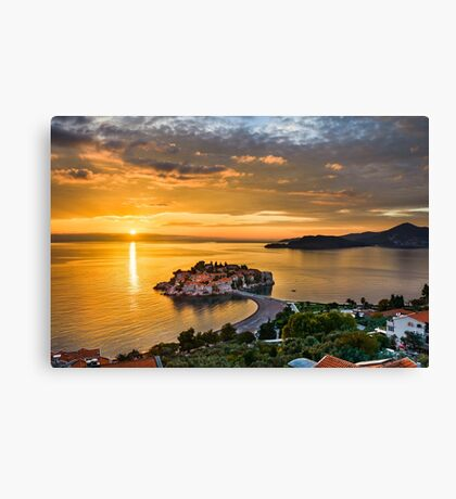 Adriatic Sunset Canvas Print