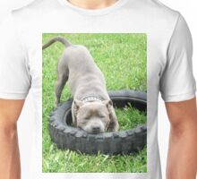 Staffordshire Bull Terrier, One Chomp Or Two. Unisex T-Shirt