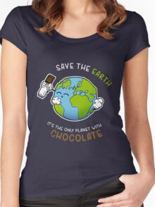 Save Chocolate Women's Fitted Scoop T-Shirt