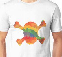Farbiger Totenkopf Unisex T-Shirt