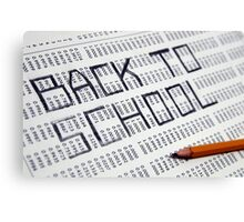 Back to school Statistical Data sheet and pencil selective focus in black and white Canvas Print