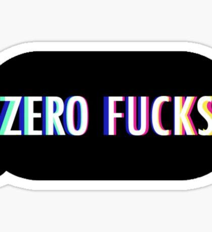 Zero Fucks Sticker