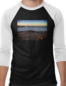 Ocean Wave Storm Pier Men's Baseball ¾ T-Shirt